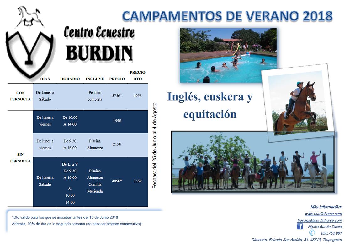 Colnias de verano 2018 Burdin Horse